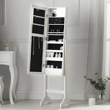 jewellery cabinet mirror organizer