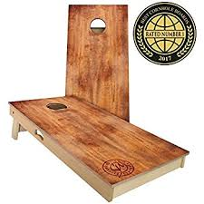Wooden Corn Hole Game Amazon Slick Woody's Burnt Wood Cornhole Set 100 by 100 Feet 40