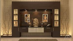 Pooja Room Designs In Living Room Architects In Cochin Interior Decorators In Ernakulam