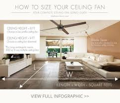 pictured is an image of a four blade ceiling fan within a living room along