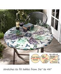 mosaic tile wine g elastic fitted indoor outdoor 48 round patio table cover