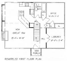 Add a Second Floor  CAP     The House DesignersRemodeled First Floor Plan