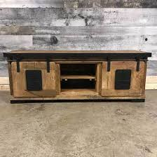 Keep Calm Carry On Industrial Rustic TV Stand Tv A50