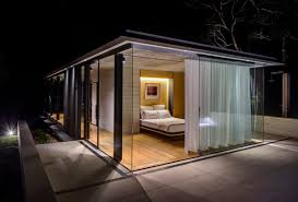 glass sliding doors floor to ceiling windows glass pavilion in somersby australia