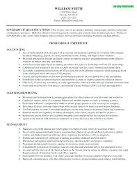Objective Accounting Resumes Sample Resume For Accounting Job Emelcotest Com
