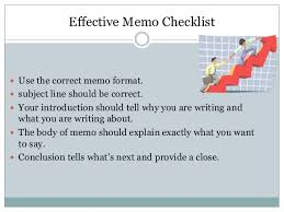 Memo And Other Letter Formats