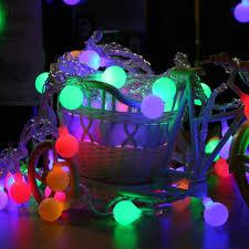 Led Round Ball Christmas Lights Amazon Com Bbfairy 10 Led Round Ball Bulbs String Lights