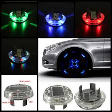 Car Light Decoration 4 Modes 12 Led Car Solar Energy Wheel Tire Rim Light Lamp Flash