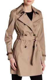 image of via spiga double ted trench coat