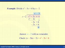 Division of Polynomials Digital Lesson. Copyright © by Houghton ...