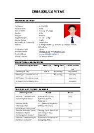 Contoh Curriculum Vitae 20 Vitae 001 Facile Therefore Scholarship ...