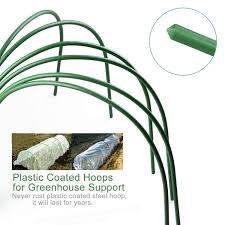 get ations 4ft long garden hoops a dong steel with plastic coated greenhouse hoops grow tunnel