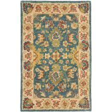 safavieh antiquity blue beige 2 ft x 4 ft area rug