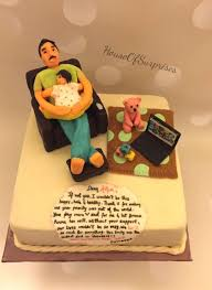 Happy Birthday Daddy Dad With Toddler Cake By Shikha Cakesdecor