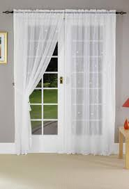 French Door Curtains White