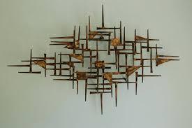 mid century wall art sculpture
