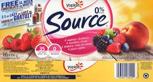 yoplait source zero yogurt 0 mf in its cheery and bright packaging note that