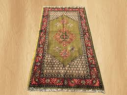 soft wool hand knotted vinatge morocco wool area rug 4 x 2 ft 4214
