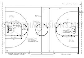 average balls size basketball court dimensions measurements