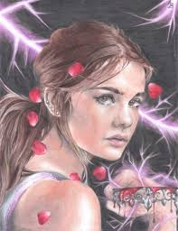 my drawing of mare barrow from one of my favorite books red queen by vaveyard