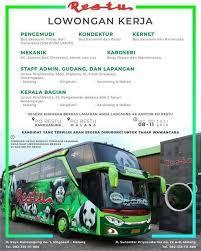 Lowongan kerja terbaru di malang. Lowongan Kerja Kernet Bus Rosalia Indah Ada Rencana Bepergian Dari Jawa Ke Sumatera Atau Sebaliknya Menggunakan Bus Rosalia Indah Hal Hal Yang Mesti Dipersiapkan Menjelang Lebaran Idul Fitri
