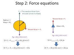 27 step 2 force equations