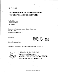 PDF) Discrimination of Seismic Sources Using Israel Seismic Network