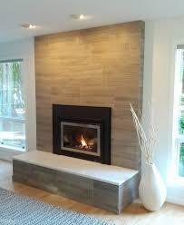 Tile Fireplace Makeover Modern Brick Fireplace Porcelain Tile Clad Solid Surface Slab On