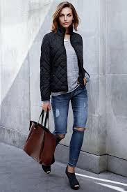 Best 25+ Quilted jacket outfit ideas on Pinterest | Black quilted ... & Black quilted jacket with smartphone pocket. #WARMINHM Adamdwight.com