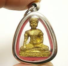thai pendant lord buddha powerful blessed amulet lucky ri
