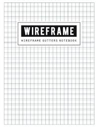 Wireframe Gutters Book Graph Writing Blank Book Grid Handwriting Journal Squared Grid Notebook Graphing Paper Is Made Up Of 1 3 Inch Boxes 12