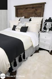 black ivory grey custom designer apartment bedding collection