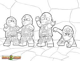 Lego Ninjago Coloring Pages Of The Green Ninja With Green Ninja