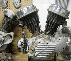 image of 1948 panhead engine for model f harley bobber by trent of