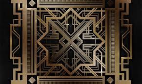 great gatsby style art deco pattern