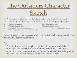the outsiders setting character list character