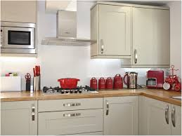 Red Black And Silver Kitchen Accessories White Cabinets Black