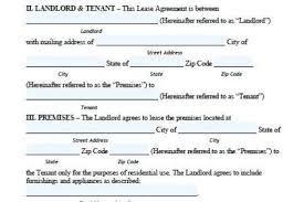 Best Free Fillable Forms » Free Lease Agreement Pdf   Free Fillable ...