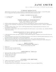 Possible Objectives For Resumes Resume Examples Objective Fresh