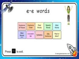 Find more short e vowel phonics. Ee Split Digraph Phonics Worksheets And Games Galactic Phonics