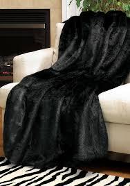 beautiful faux fur rug for flooring decor ideas black mink signature series faux fur throw