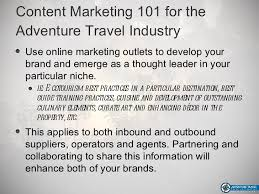 travel agency marketing plan content marketing strategy for the adventure travel industry