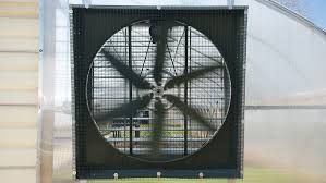 how to size greenhouse fans shutters