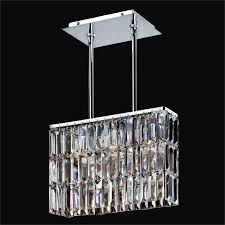 rectangular pendant chandelier with rectangular shaped crystal reflections 600lm3lsp 3c