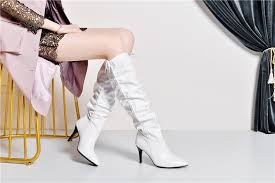 <b>ANNYMOLI Winter</b> Knee High Boots Women <b>Genuine Leather</b> ...