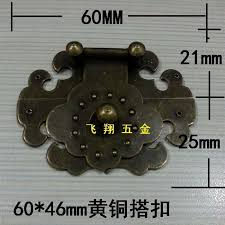 60 46mm buckle ming and qing antique wooden box gift box clasp buckle brass lock