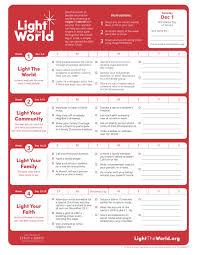 2018 Light The World Calendar 2018 Lds Light The World Calendar Lds Light The World
