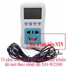 Ổ cắm điện hẹn giờ kiêm điều khiển tắt mở theo nhiệt độ XH-W2300
