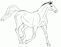Realistic Horse Coloring Pages Getcoloringpagescom
