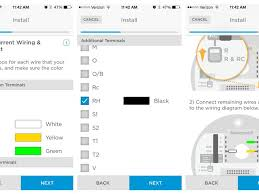 install the honeywell lyric thermostat like a pro cnet honeywell lyric t5 wiring diagram the app aims to help you visualize the setup based on your wiring screenshots by megan wollerton cnet
